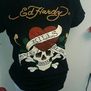 Ed Hardy Tops - 🤗2/$15 Ed Hardy Love Kills Slowly Tee